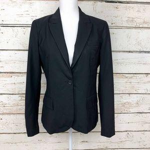 Size 12 Theory Black Single Button Blazer - Career